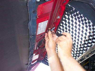 how to install a billet grille overlay step 1