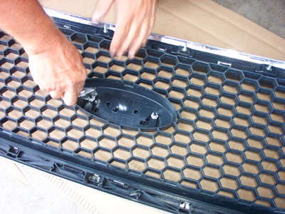 how to install a billet grille overlay step 2