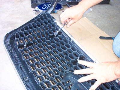 grille overlay installation step 4