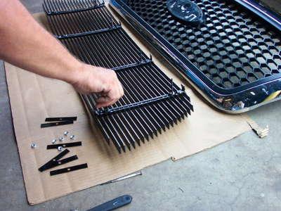 grille overlay installation step 5